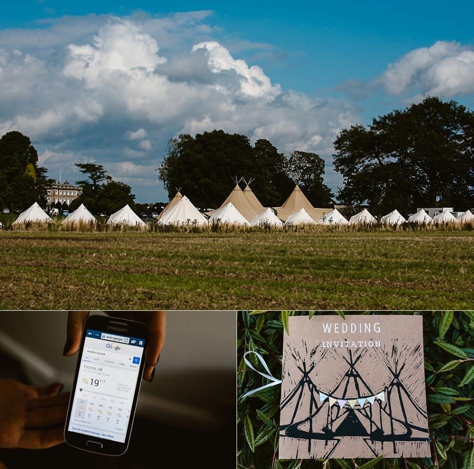 Yorkshire wedding photographer eskrick park camping wedding
